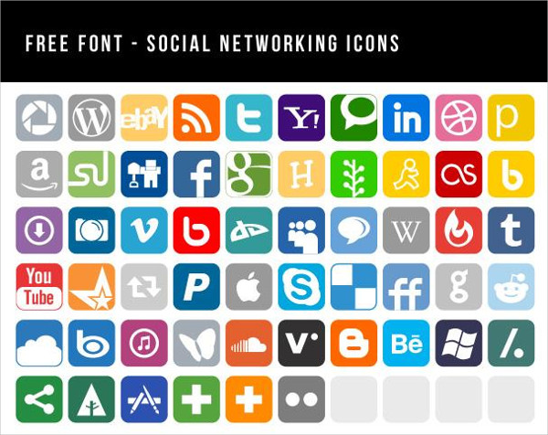 Social Media Icon Font Free Download