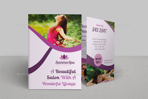 Spa & Beauty Saloon Bi-Fold Brochure Bundle