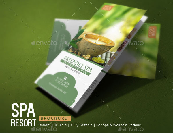 Spa Resort Brochure Template