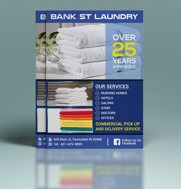 Cool Looking Laundry Flyer
