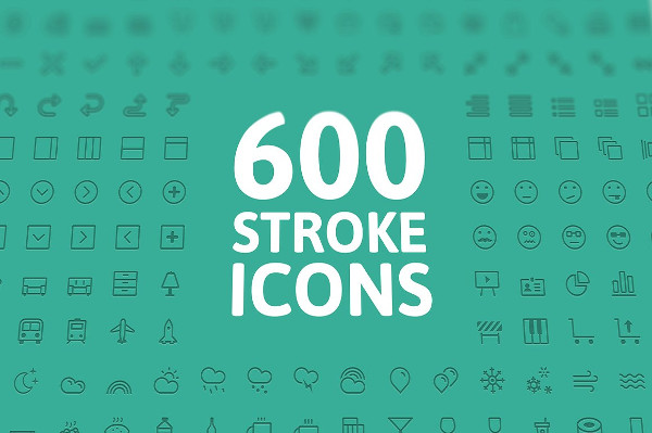 600 Vector Stroke Icons
