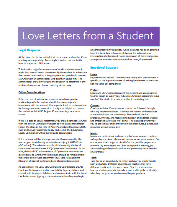Love Letter Templates 7 Free Word PDF Documents Download – Templates for Love Letters