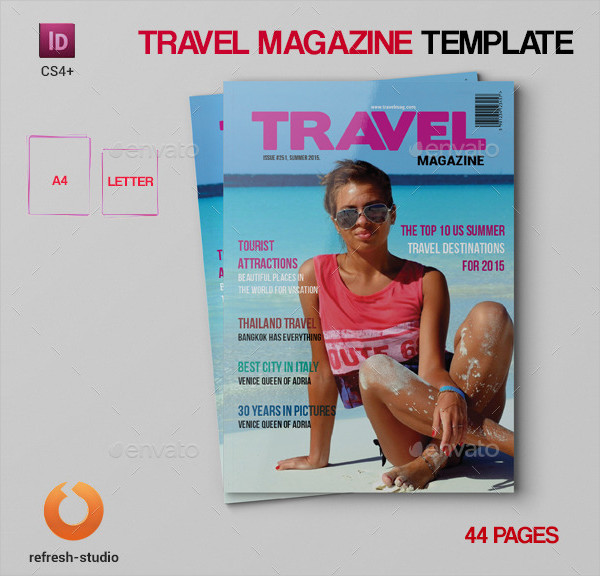 Stylish Travel Magazine Template