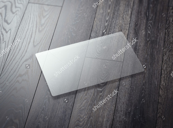 Blank Transparent Business Card
