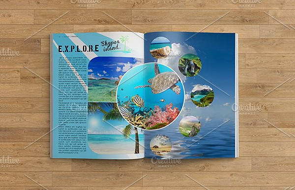 Travel Adventure Magazine Template