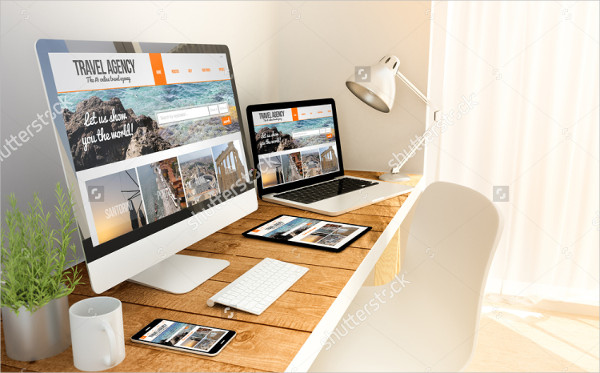 Travel Agency Responsive Screen Mock-Up