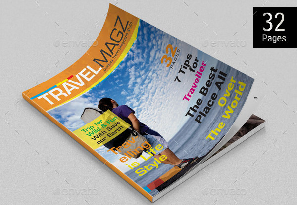 Trip Travel Magazine Template