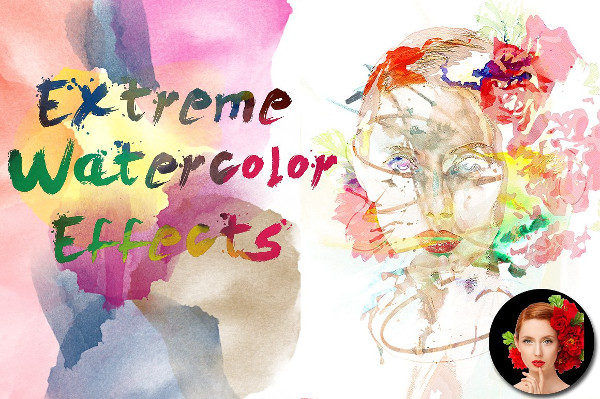 Extreme Watercolor Photoshop Actions
