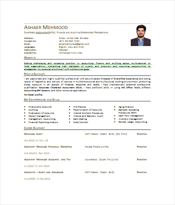 7  accountant resume templates