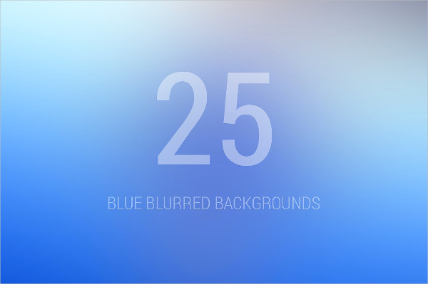 25 Blue Blurred Background
