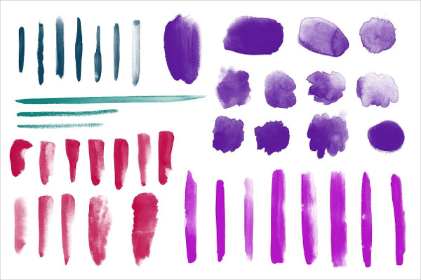 42 High Resolution Watercolor Brushes