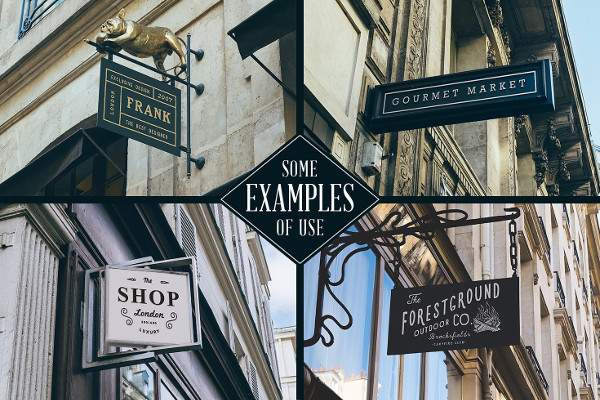 50 Shop Signs Mockups Massive Collection