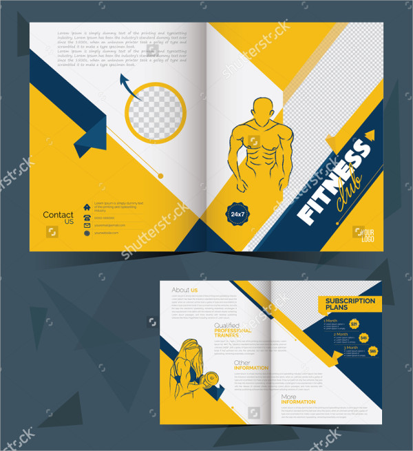 Fitness Brochure Layout Template