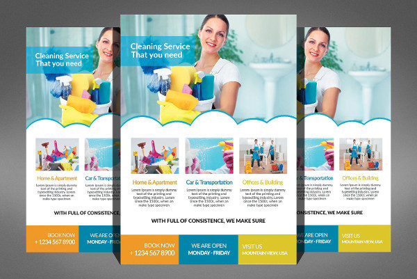 Abstract Cleaning Service Flyer