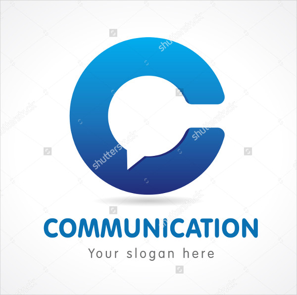 C Letter Communicate Logo Template