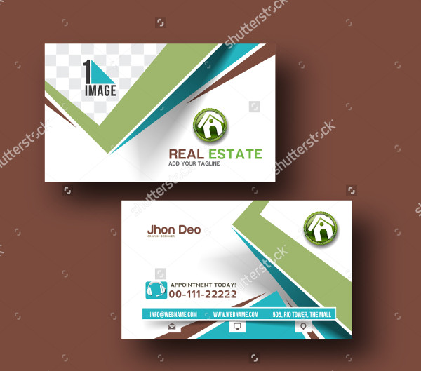 Real Estate Vector Business Card Template