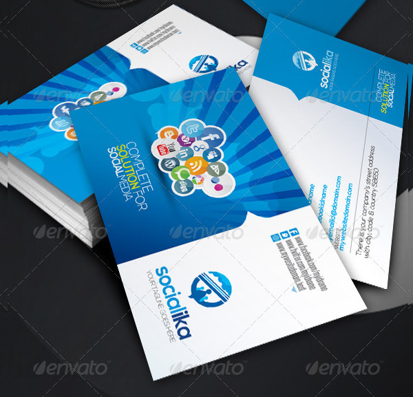 39 social media business card templates free premium download abstract social media business card template flashek Image collections