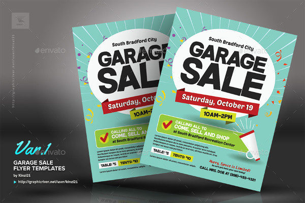 Popular Garage Sale Flyer Templates