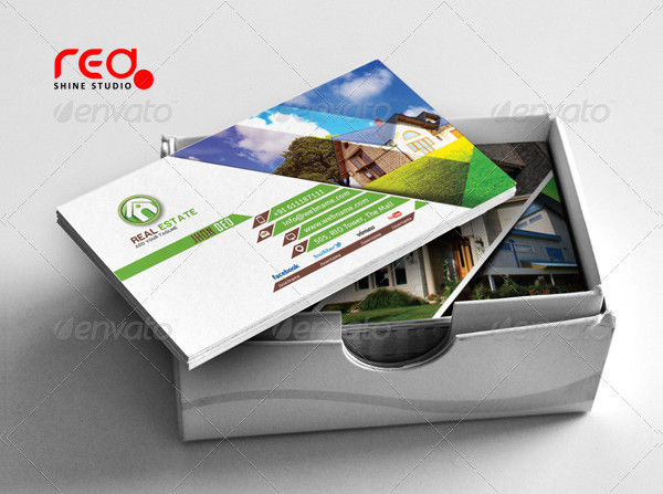Colorful Real Estate Agency Business Card Set