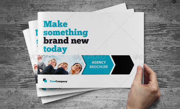 Horizontal Brochure Template for Agency