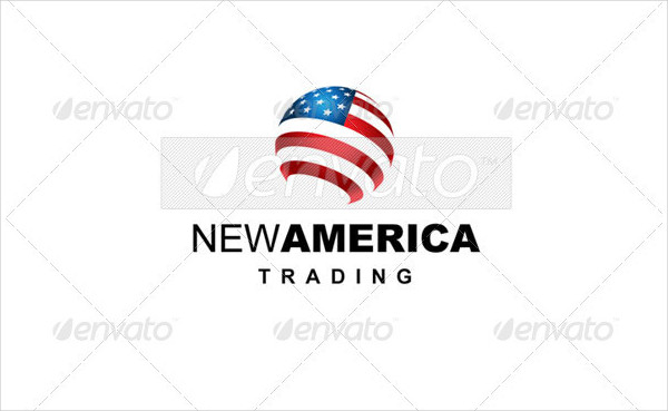 America Trading Communications Logo Template