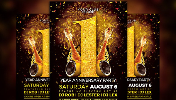 29 Anniversary Flyer Templates Free Premium Download