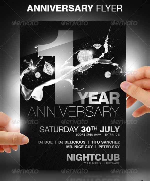 Anniversary Night Club Party Flyer Template
