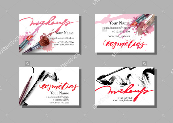 Set of Artist Business Cards Vector