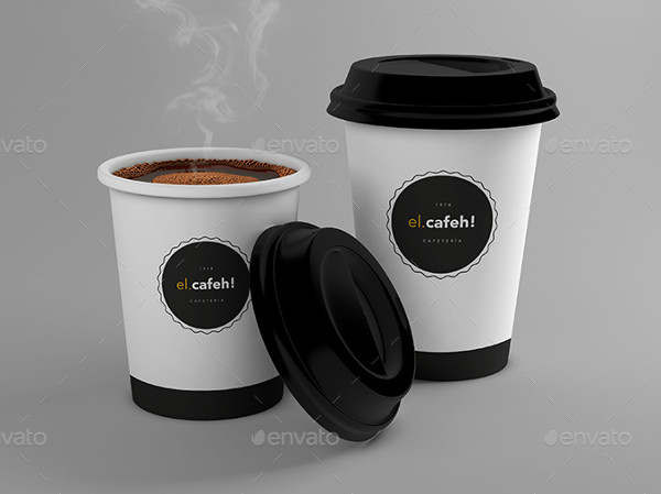 Attractive Coffee Cup Mockup