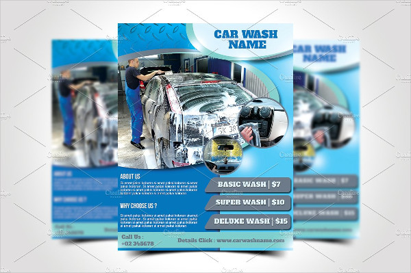 Creative Car Wash Flyer Template