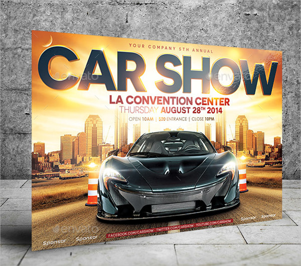 Car Show Flyer Template Psd Cericomunicaaslcom - Car show flyer background