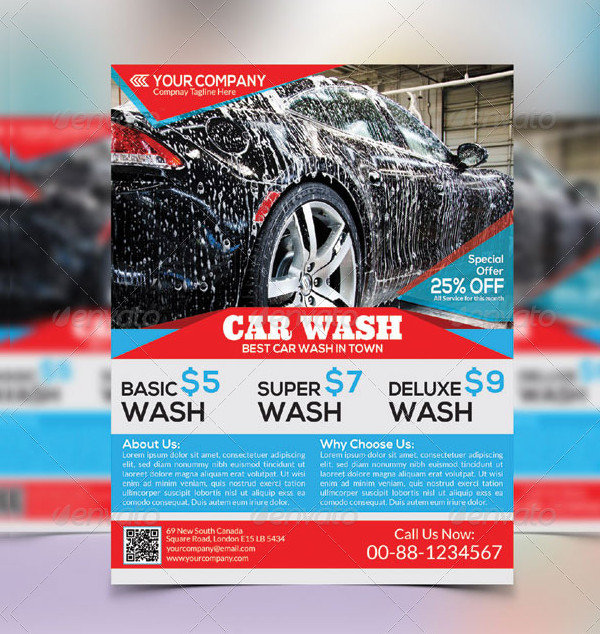 Car Wash Editable Flyer Template