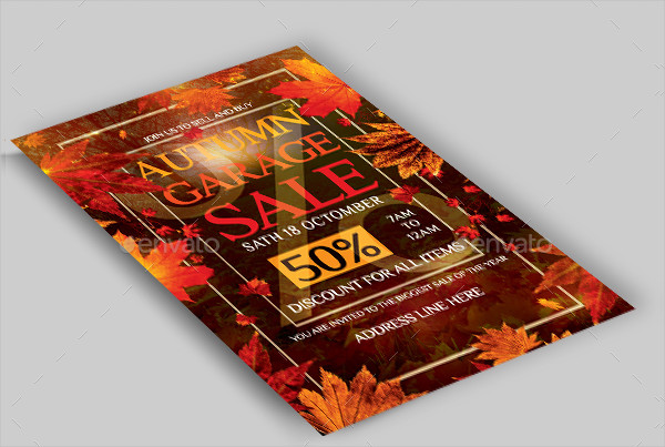 Autumn Garage Sale Flyer Template