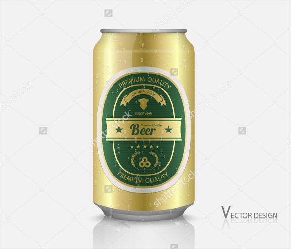 Beer can with Label Mockup