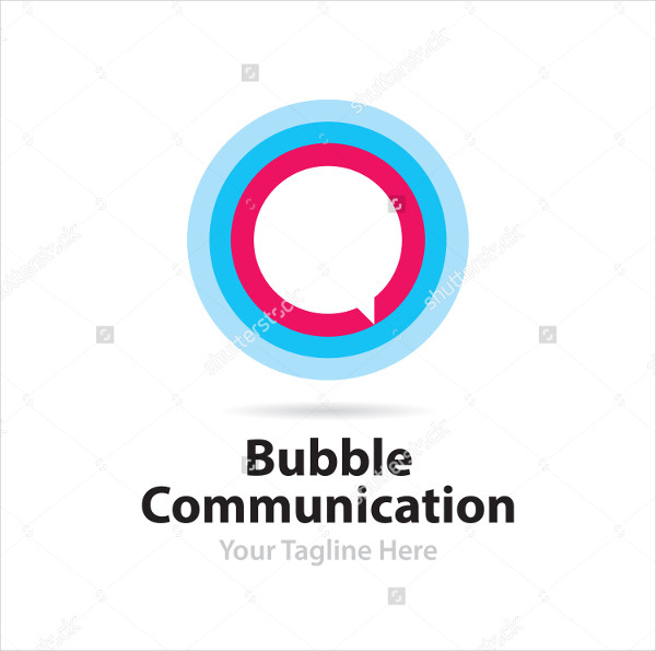 Flat Bubble Communication Logo Template