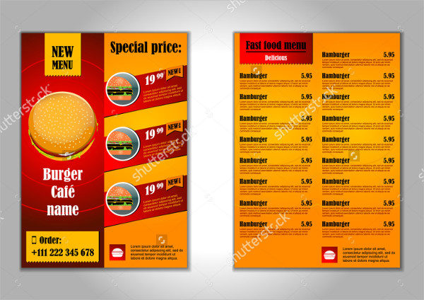 Burger Cafe Flyer Design Template