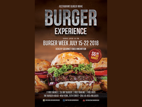 Unique Burger Flyer Template