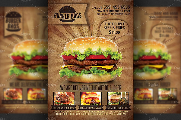 Burger Store Promotion Flyer Template