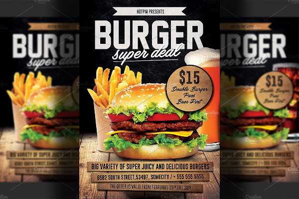 Attractive Burger Promotion Flyer