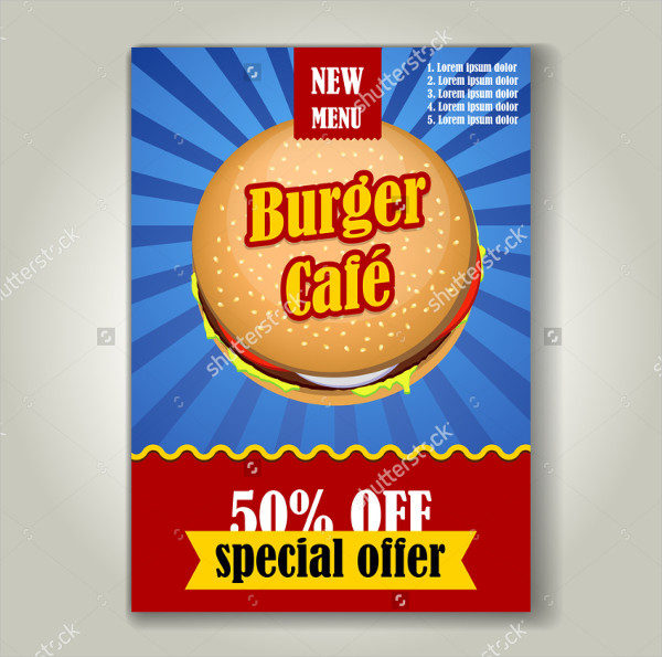 Burger Sale Flyer Template Vector