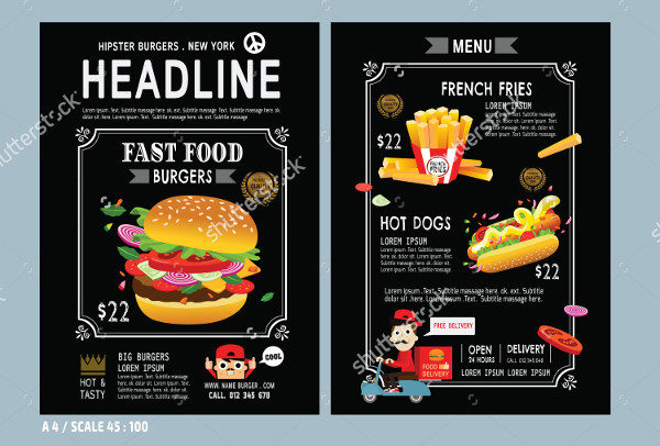 Vector Design Burger Flyer Template