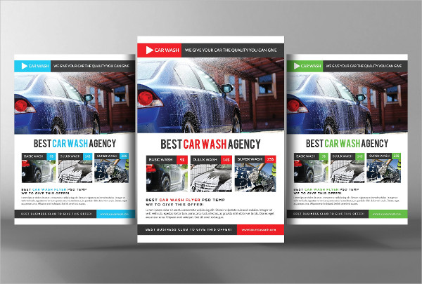 Best Car Wash Agency Flyer Template