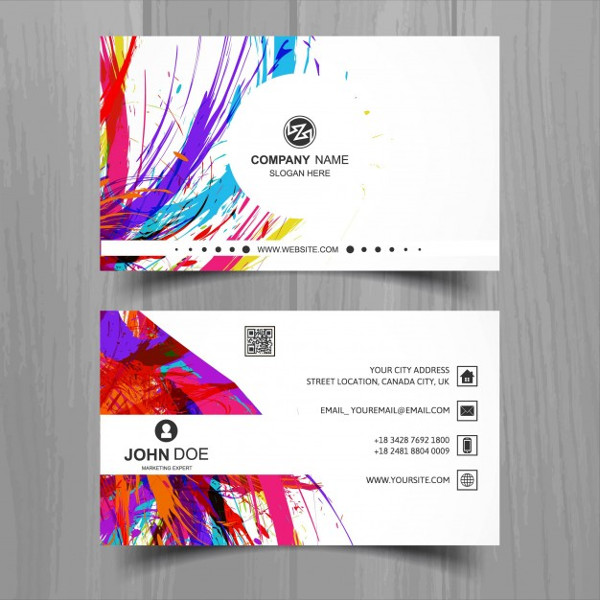 Business Card for an Artistic Painter Free