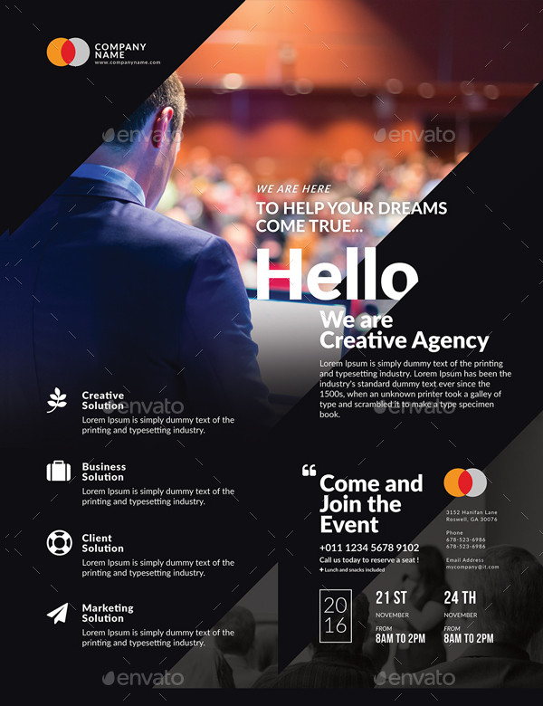 27  business event flyer templates