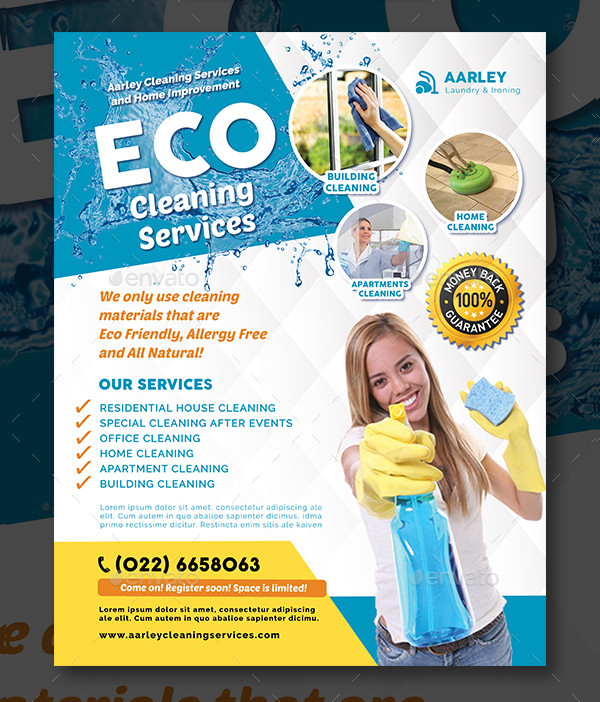 Cleaning Services Advertising Flyer Template