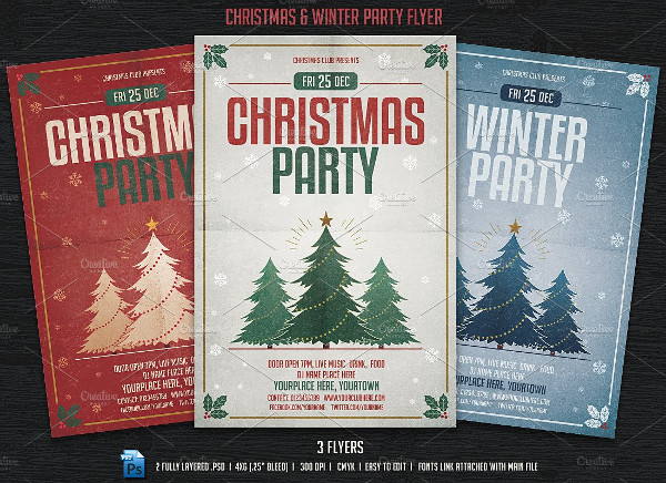 Winter & Christmas Party Flyers