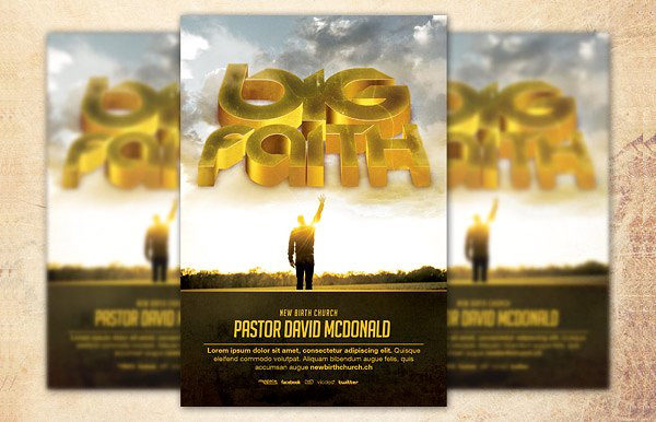 Big Faith Church Flyer Template