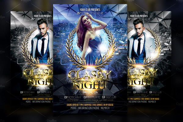 Classy Anniversary Night Flyer Template