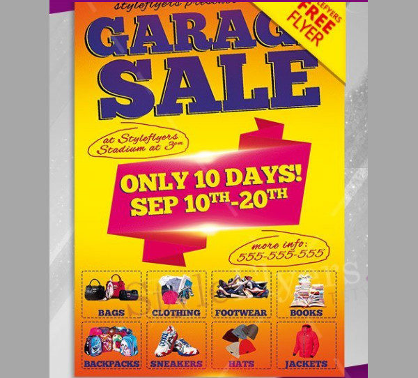 Free Garage Sale PSD Flyer Template
