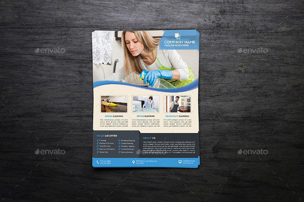 Cleaning Service Design Flyer Template